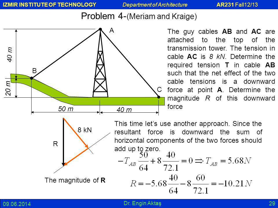 Problem 4-(Meriam and Kraige)