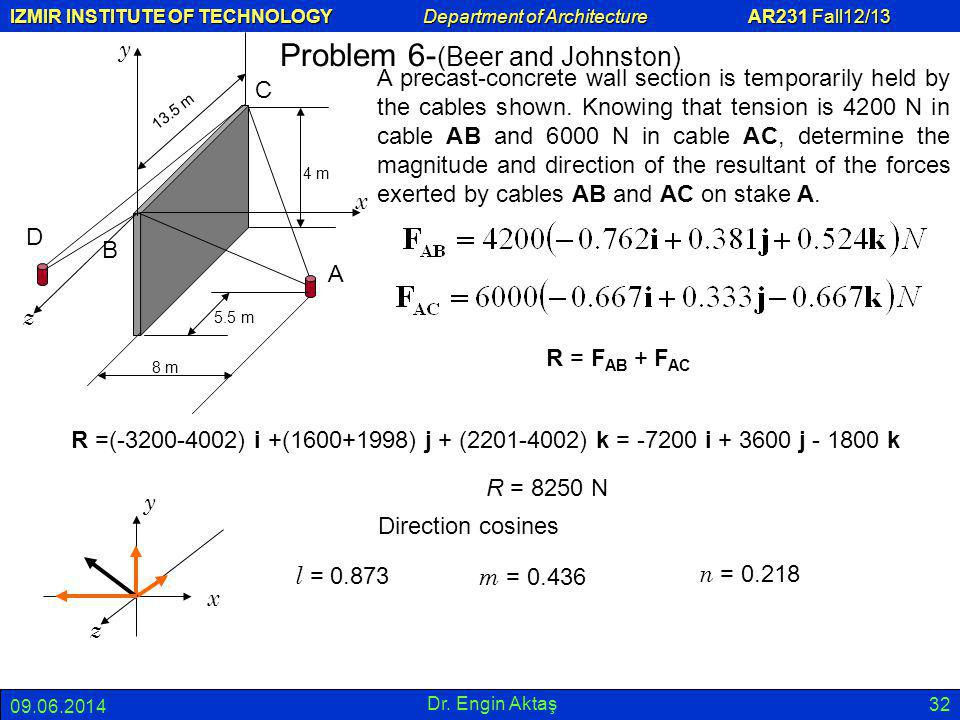 Problem 6-(Beer and Johnston)