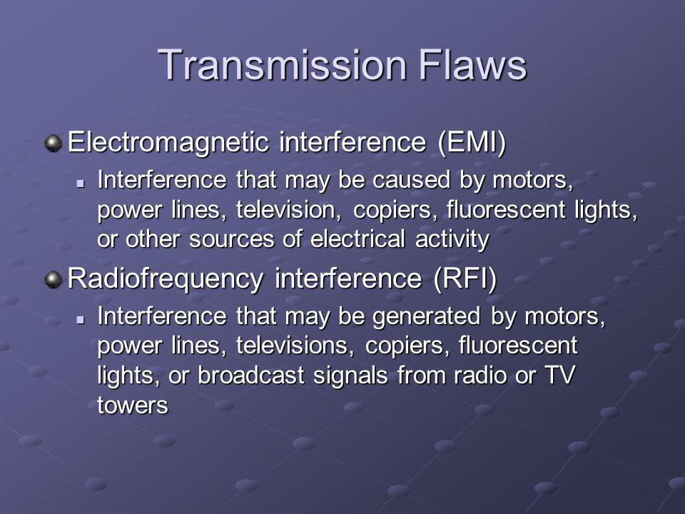 Transmission Flaws Electromagnetic interference (EMI)