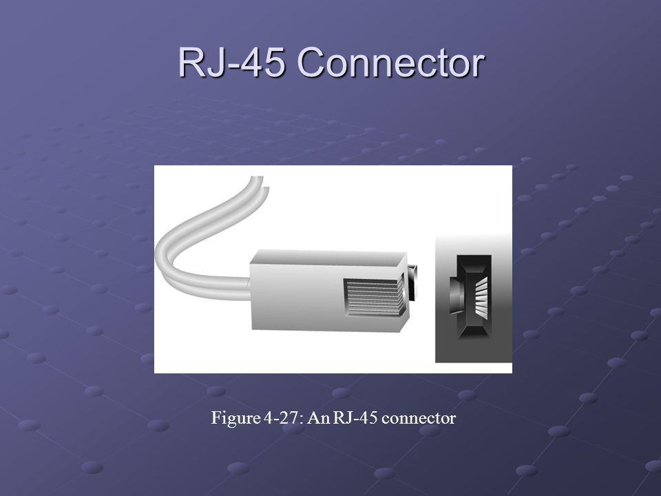 Figure 4-27: An RJ-45 connector