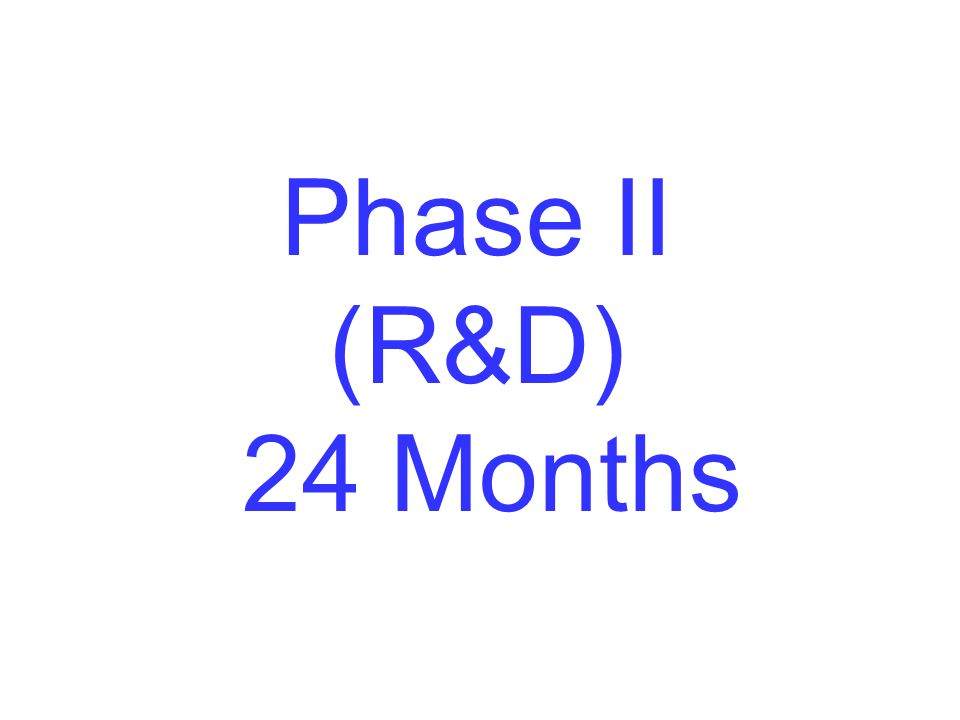 Phase II (R&D) 24 Months 2