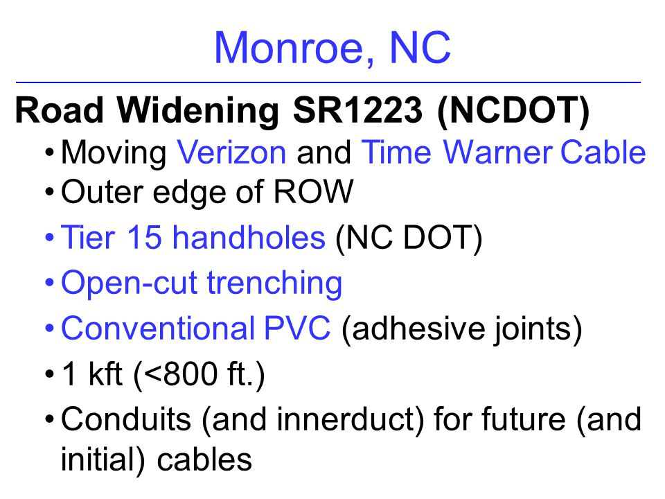 Monroe, NC Road Widening SR1223 (NCDOT)