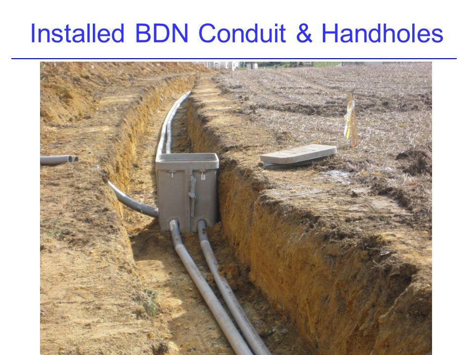 Installed BDN Conduit & Handholes