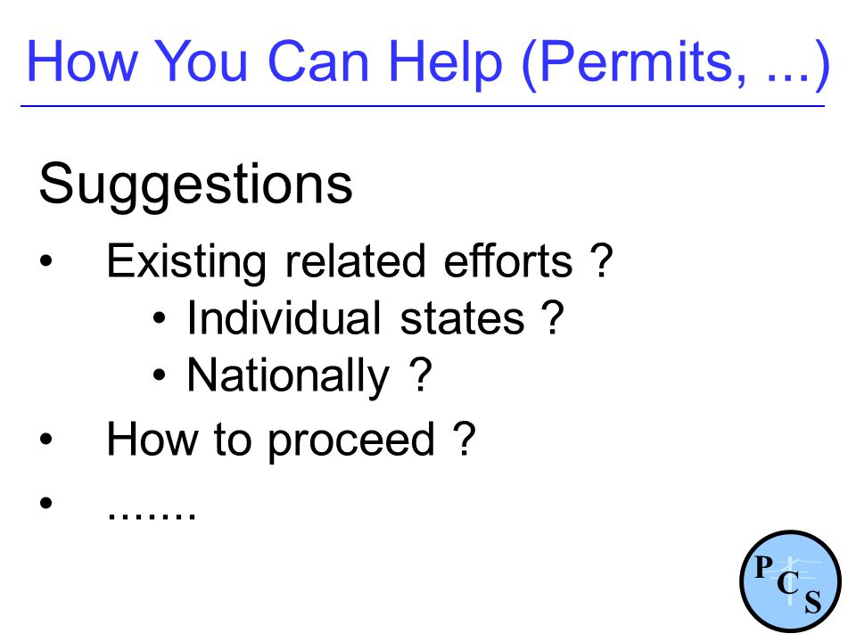 How You Can Help (Permits, ...)