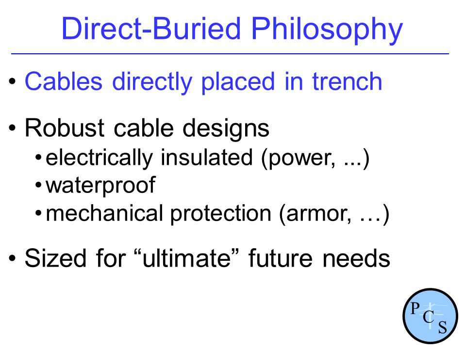Direct-Buried Philosophy
