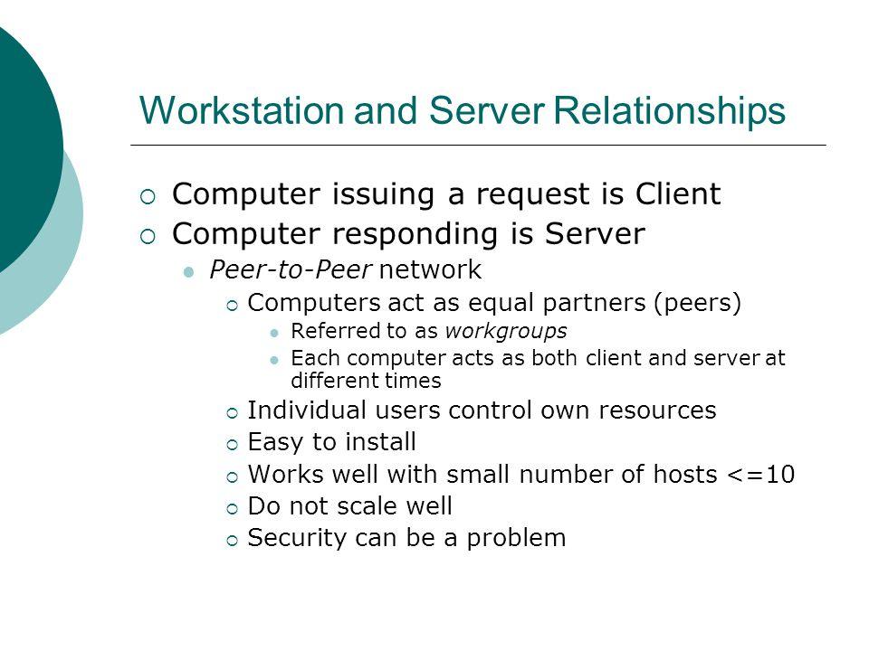 Workstation and Server Relationships