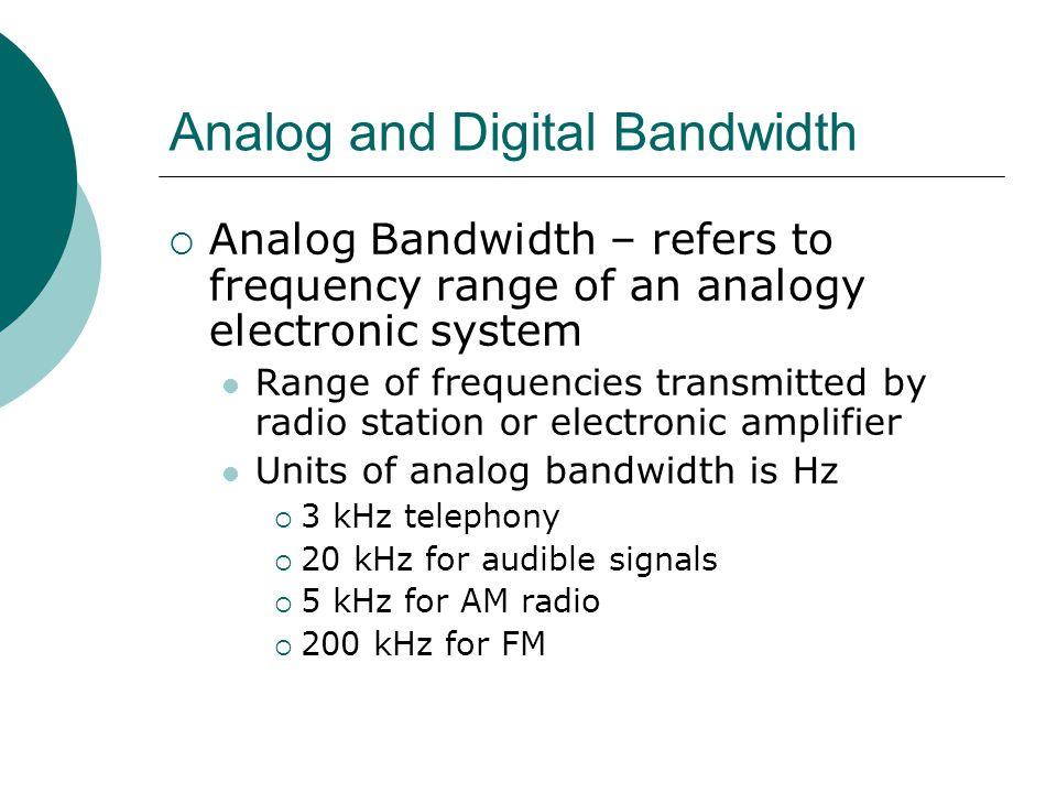 Analog and Digital Bandwidth