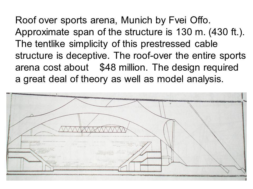 Roof over sports arena, Munich by Fvei Offo