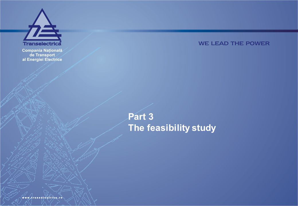 Part 3 The feasibility study