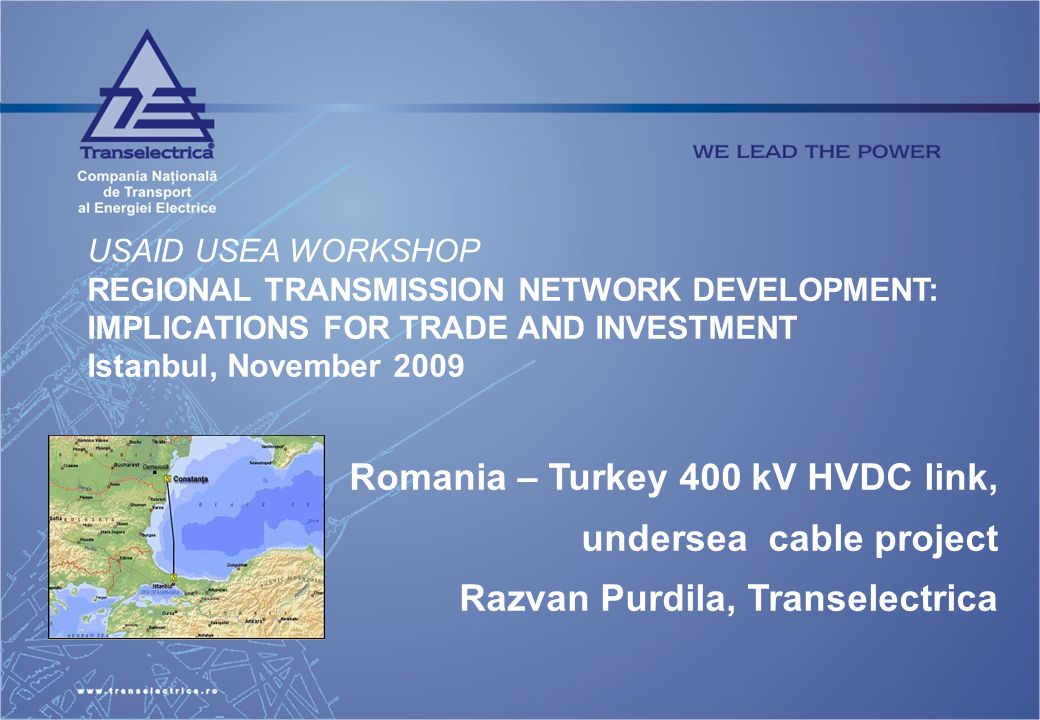 Romania – Turkey 400 kV HVDC link, undersea cable project