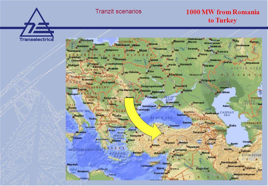 1000 MW from Romania to Turkey