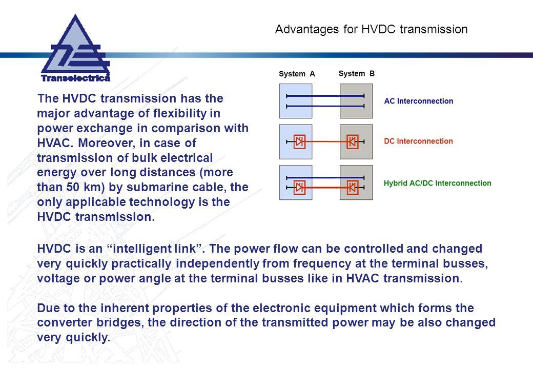 Advantages for HVDC transmission