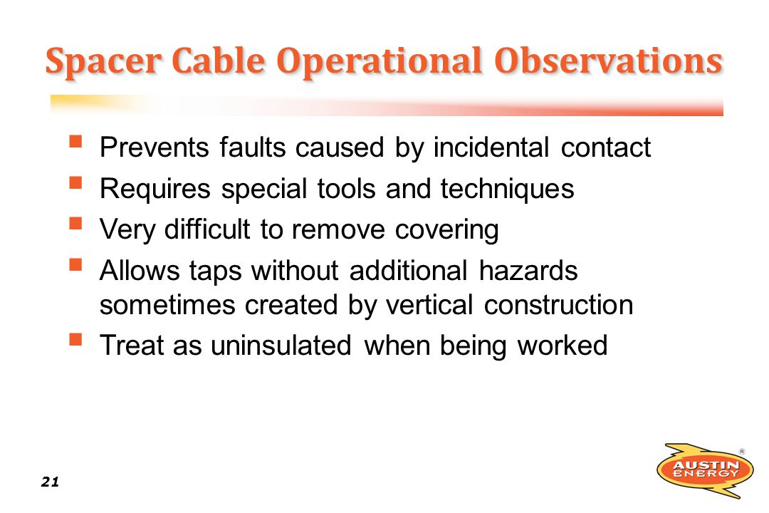 Spacer Cable Operational Observations