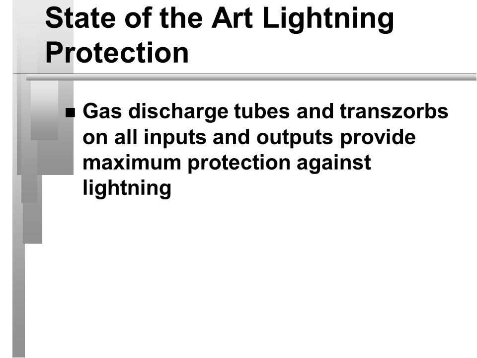 State of the Art Lightning Protection