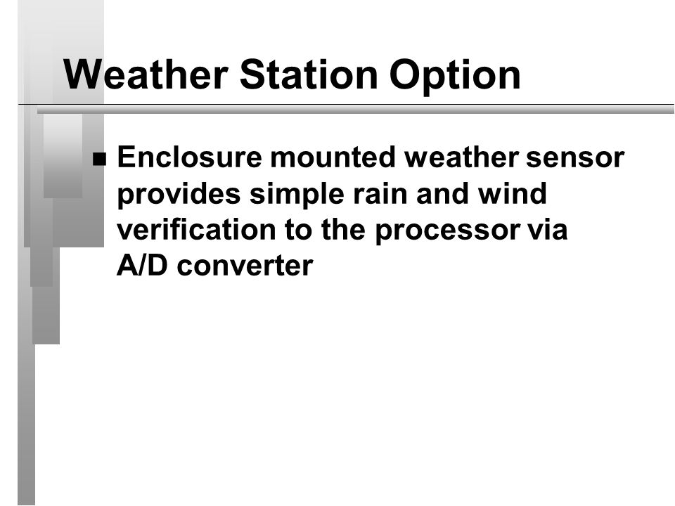 Weather Station Option