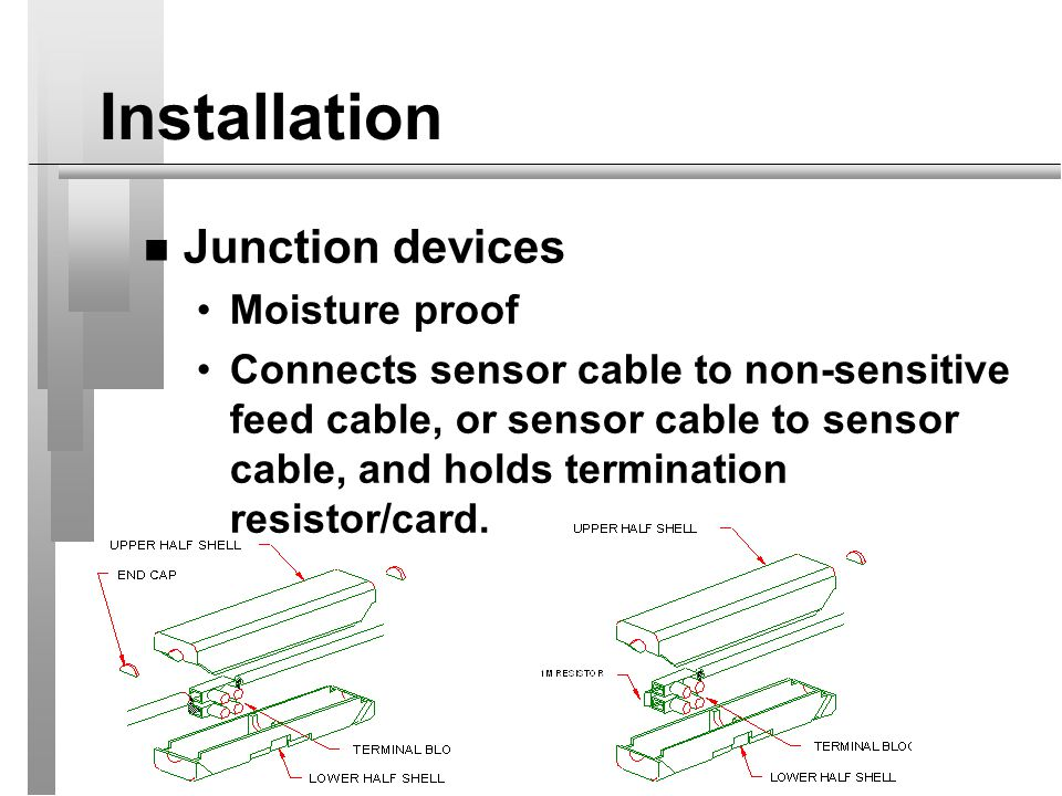 Installation Junction devices Moisture proof