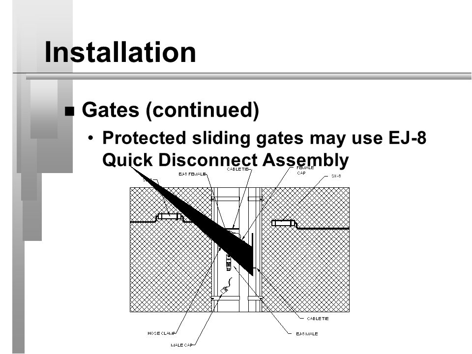 Installation Gates (continued)