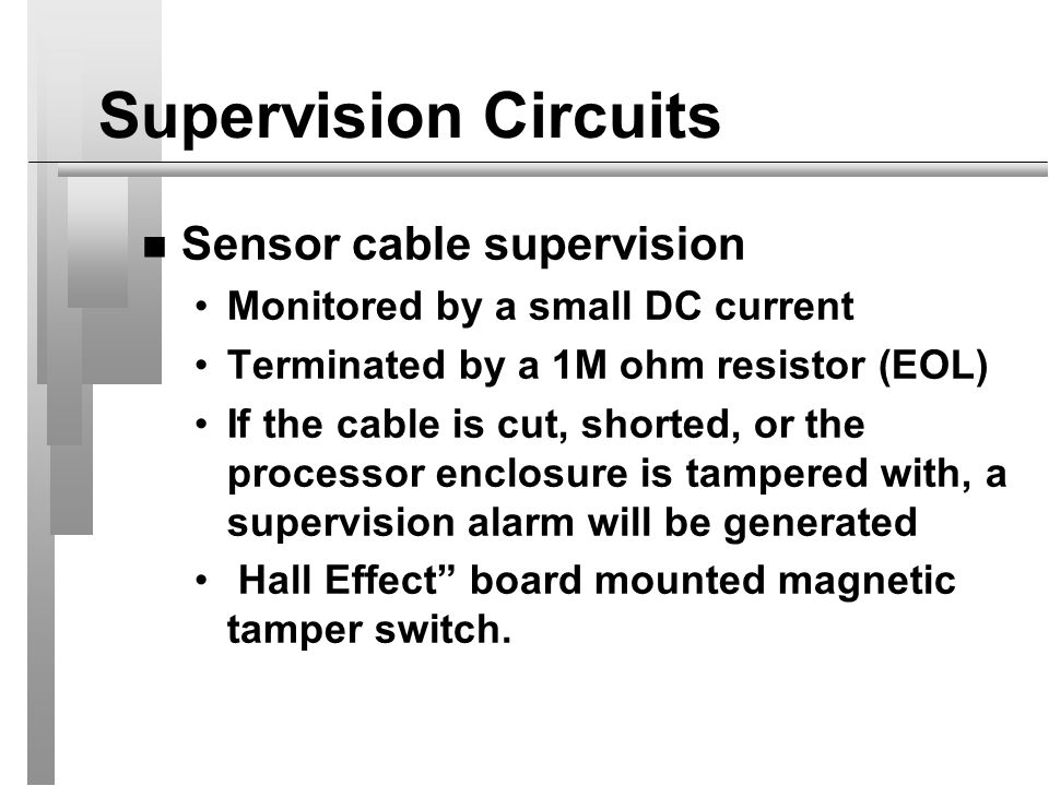 Supervision Circuits Sensor cable supervision
