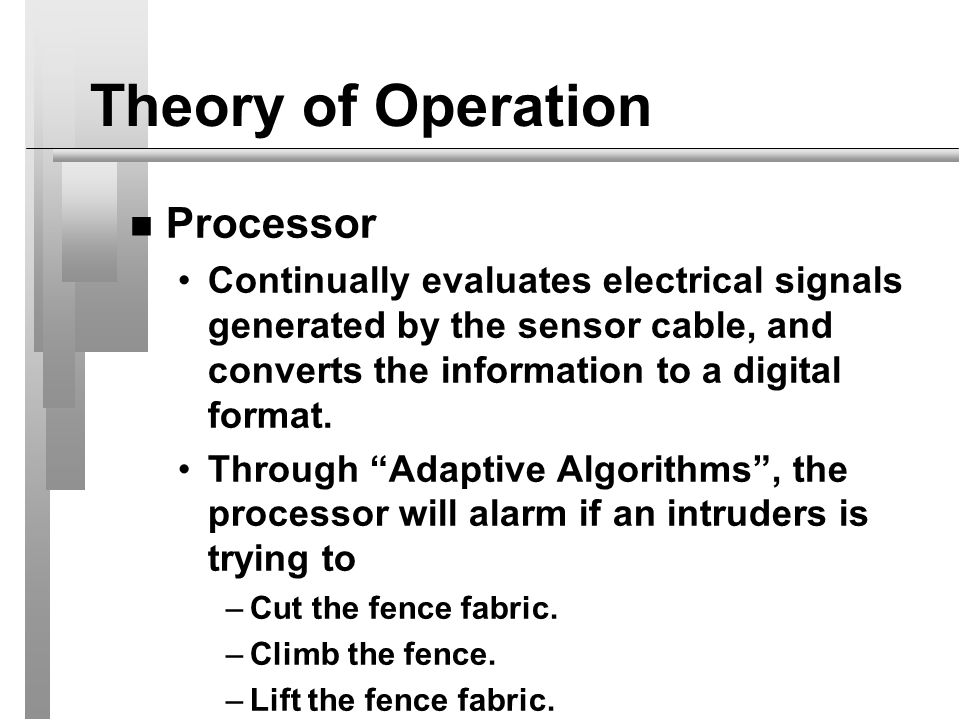 Theory of Operation Processor