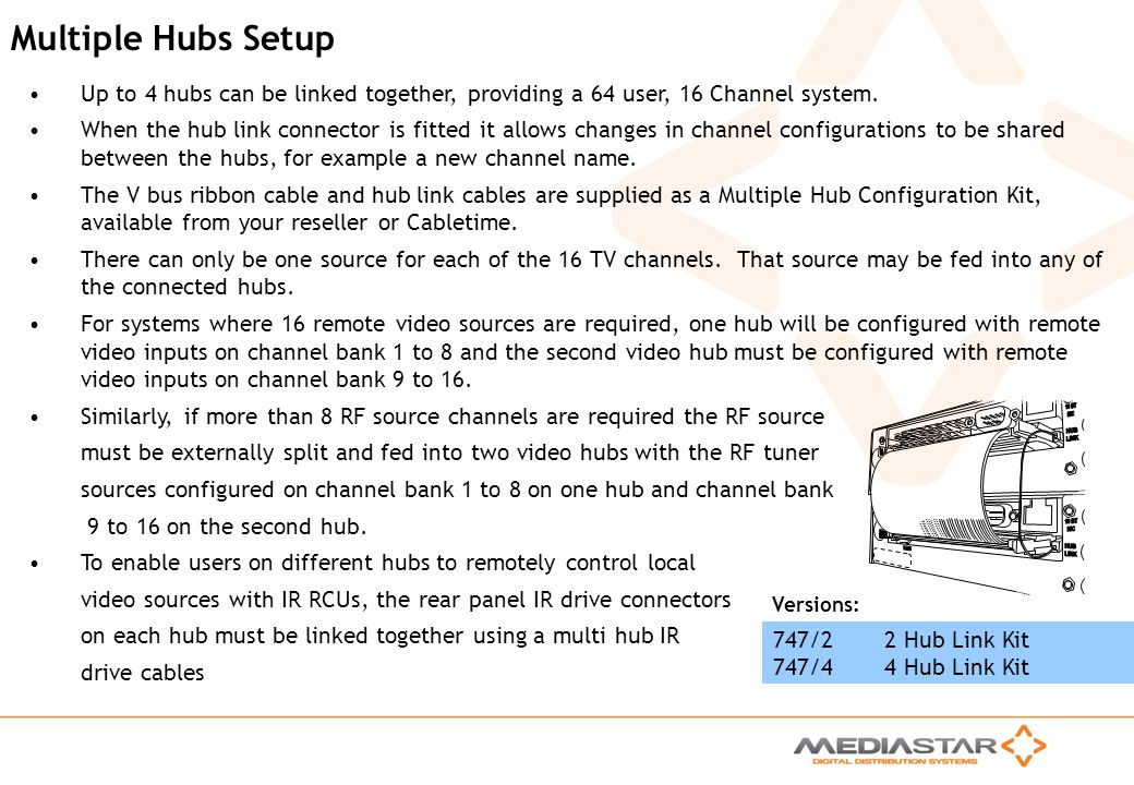 10 BT HUB NIC LINK V-BUS Multiple Hubs Setup