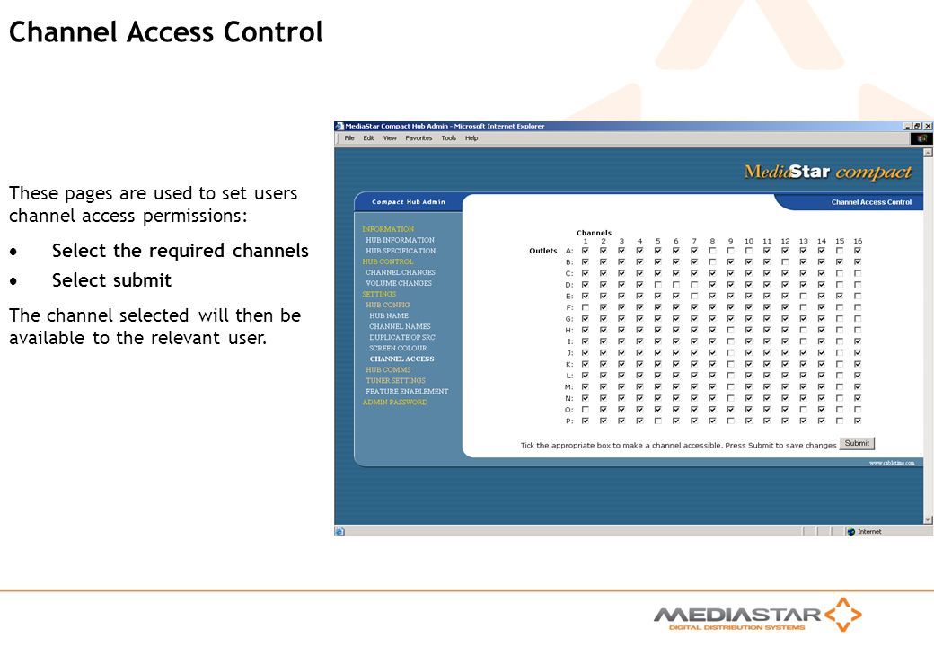 Channel Access Control