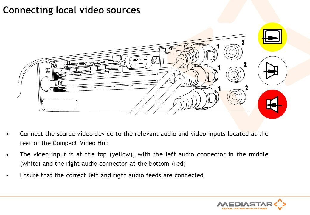 Connecting local video sources
