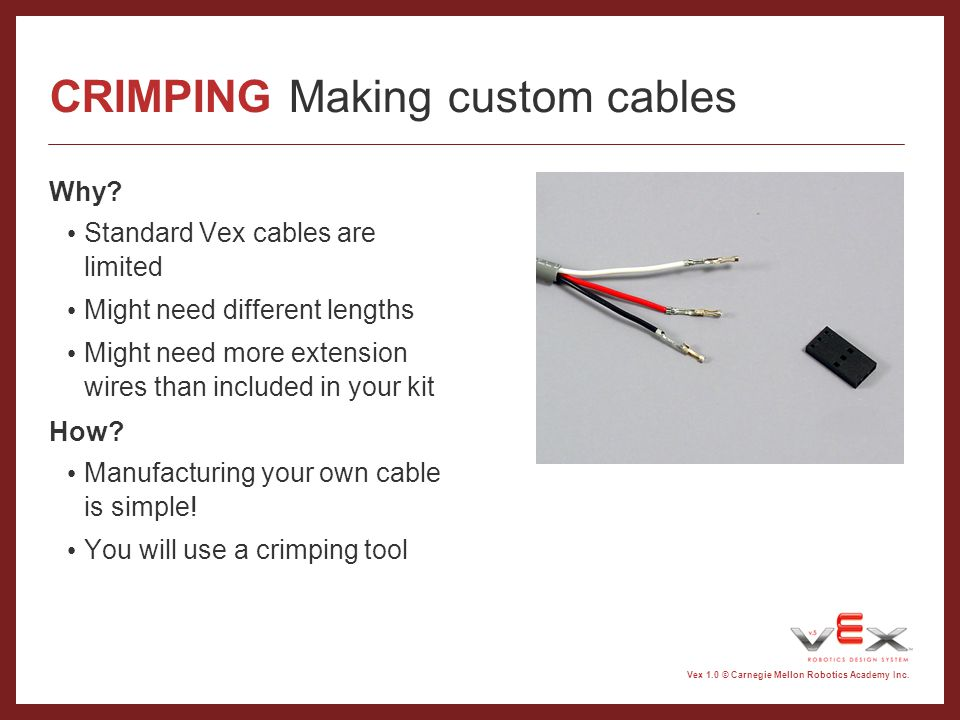 CRIMPING Making custom cables