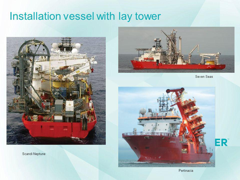 Installation vessel with lay tower