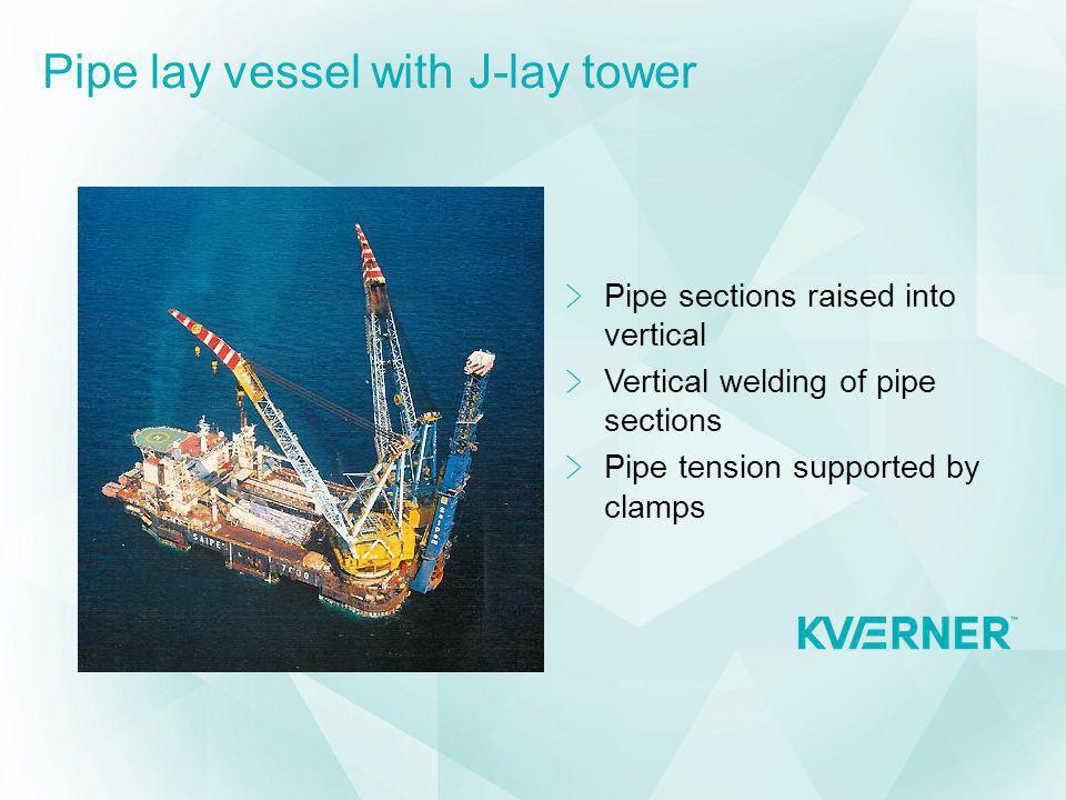 Pipe lay vessel with J-lay tower