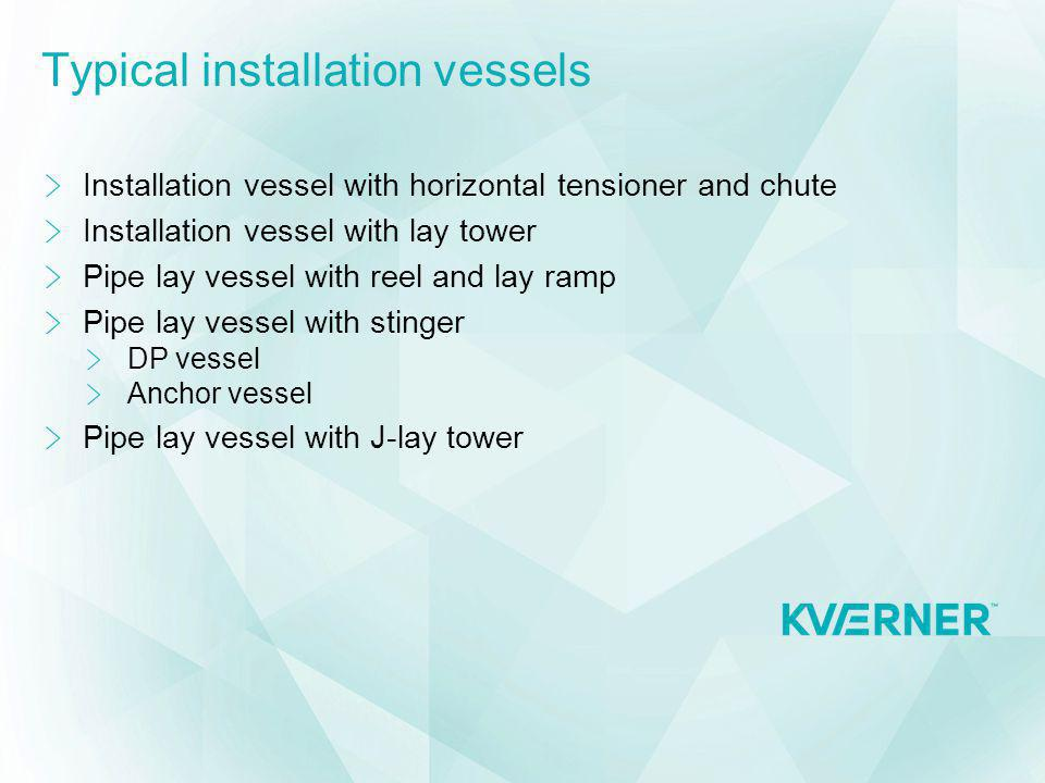 Typical installation vessels