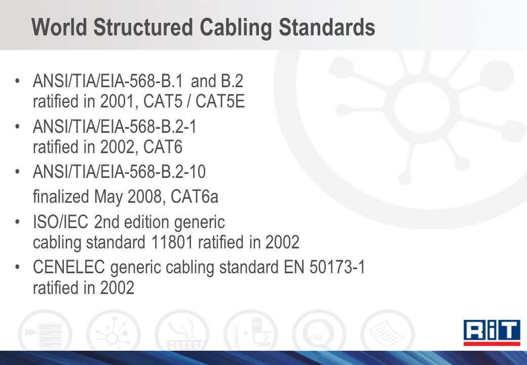 World Structured Cabling Standards