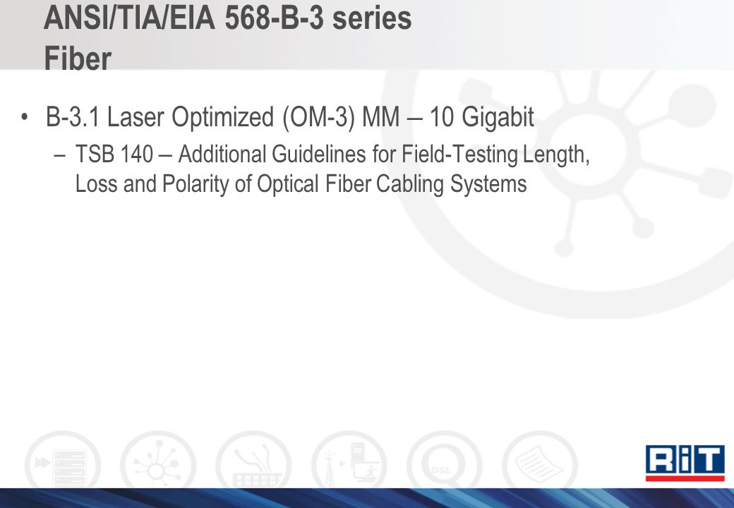 ANSI/TIA/EIA 568-B-3 series Fiber