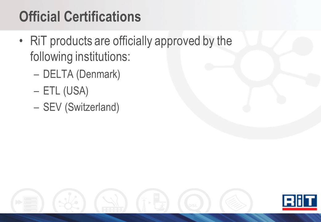 Official Certifications