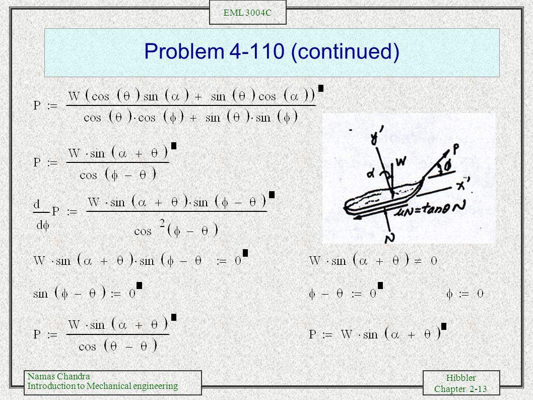 Problem 4-110 (continued)