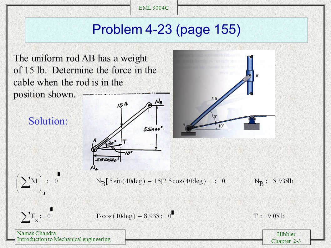 Problem 4-23 (page 155) Solution: