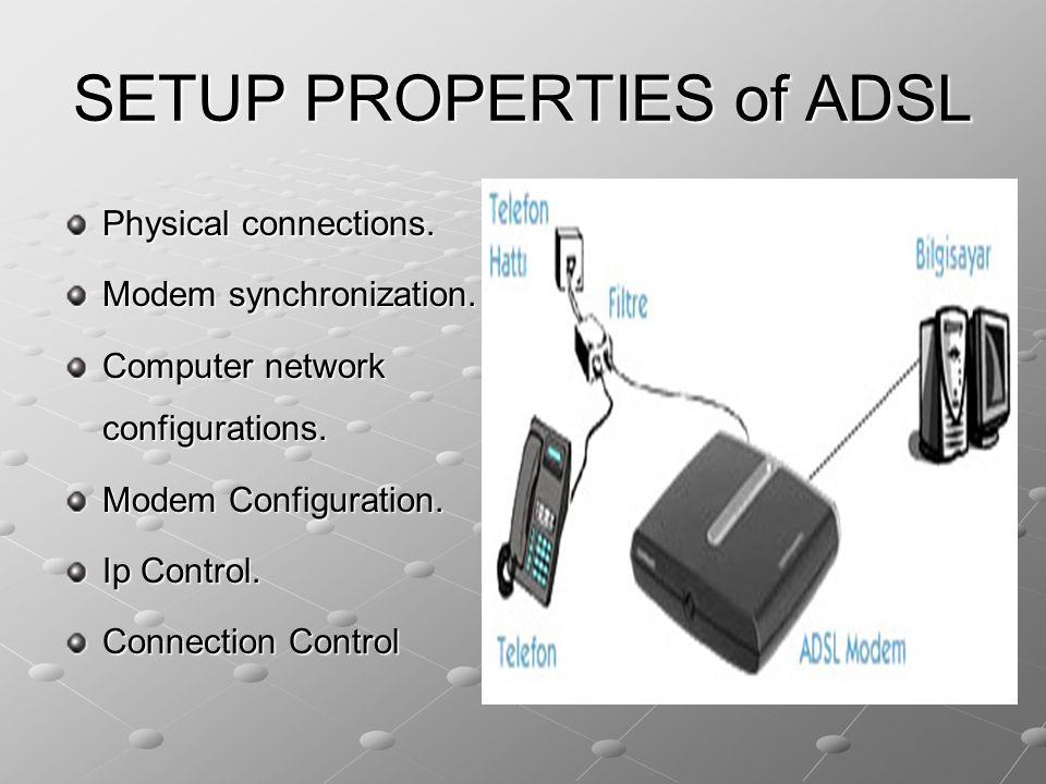 SETUP PROPERTIES of ADSL