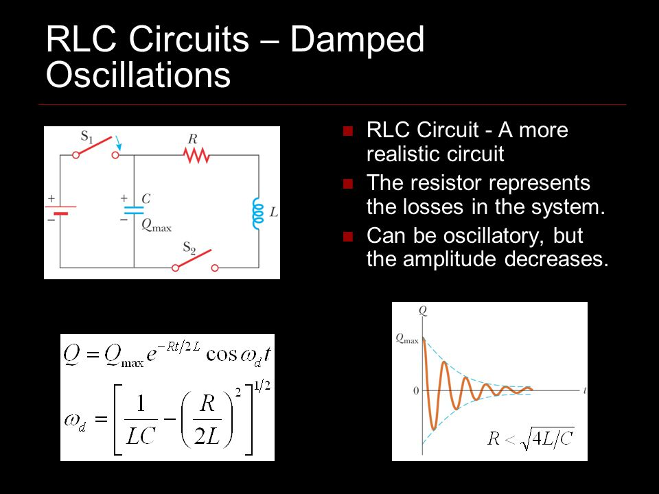 RLC Circuits – Damped Oscillations