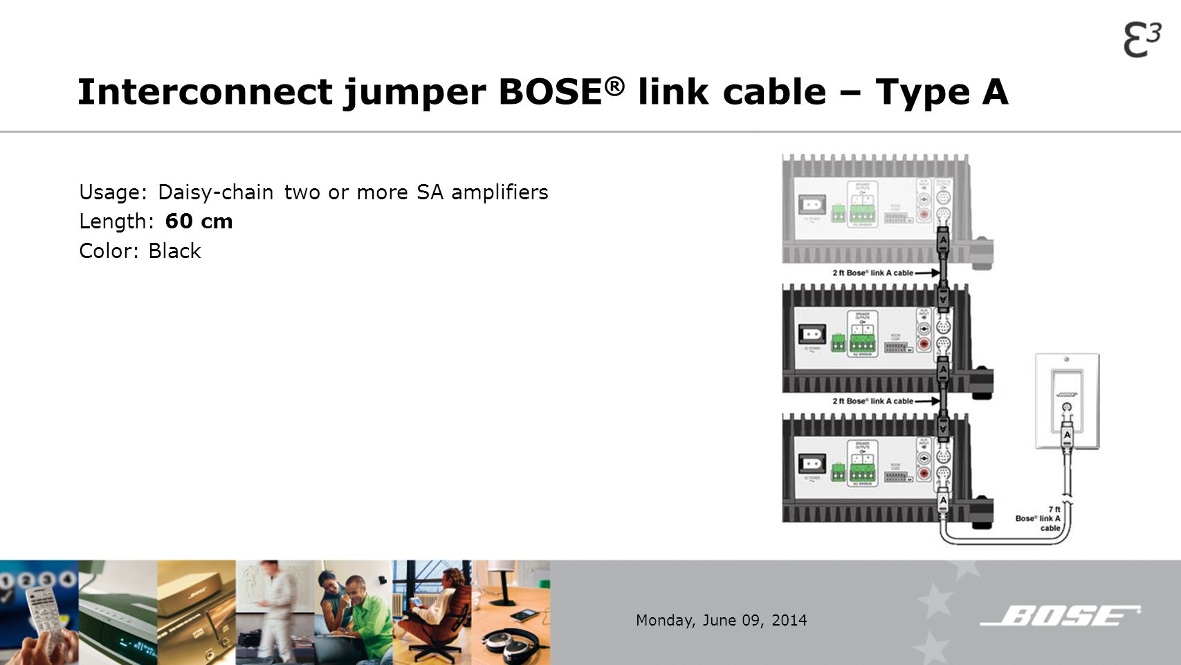 Interconnect jumper BOSE® link cable – Type A