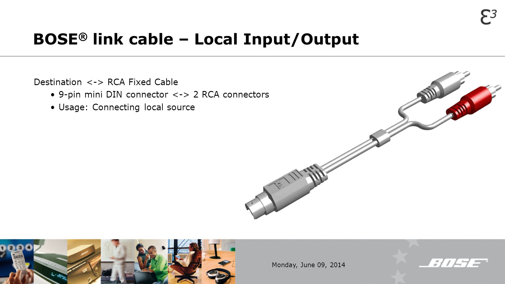 BOSE® link cable – Local Input/Output