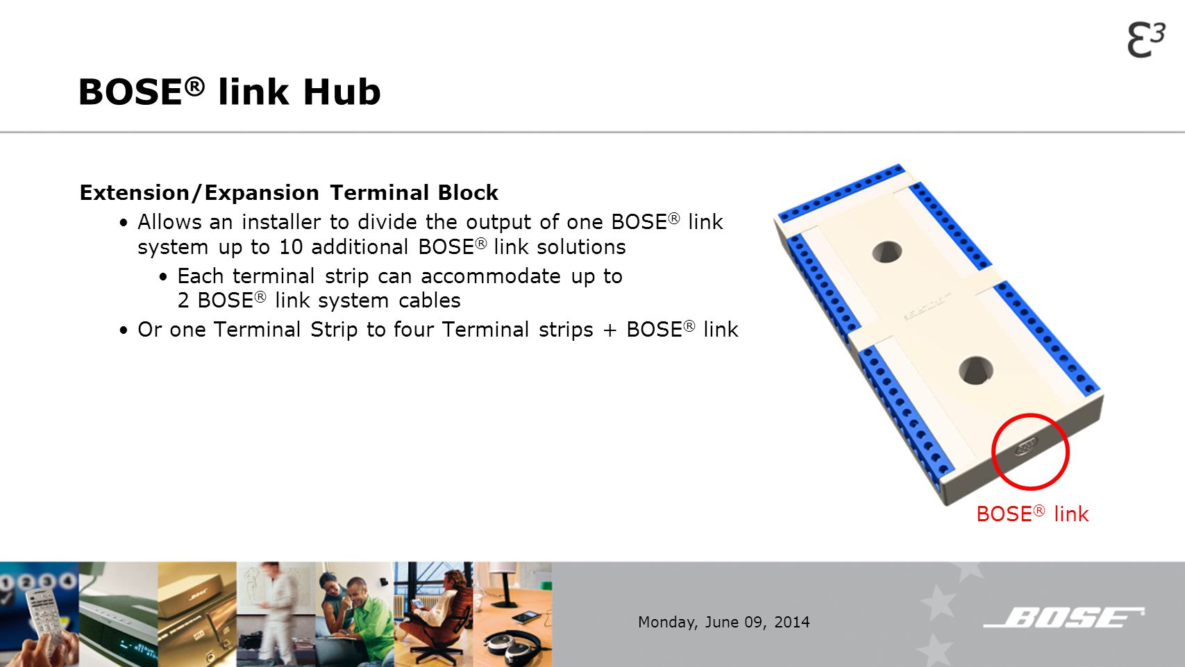BOSE® link Hub Extension/Expansion Terminal Block