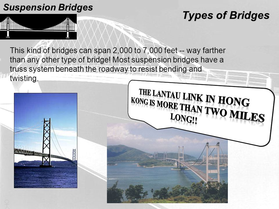 The Lantau Link in Hong Kong is more than two miles long!!