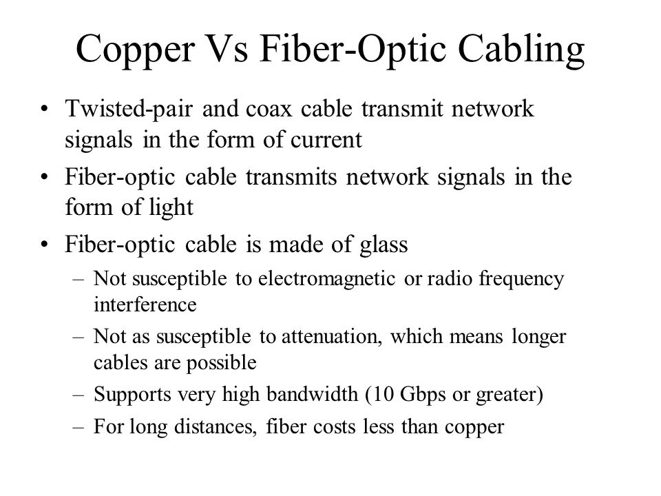 Copper Vs Fiber-Optic Cabling