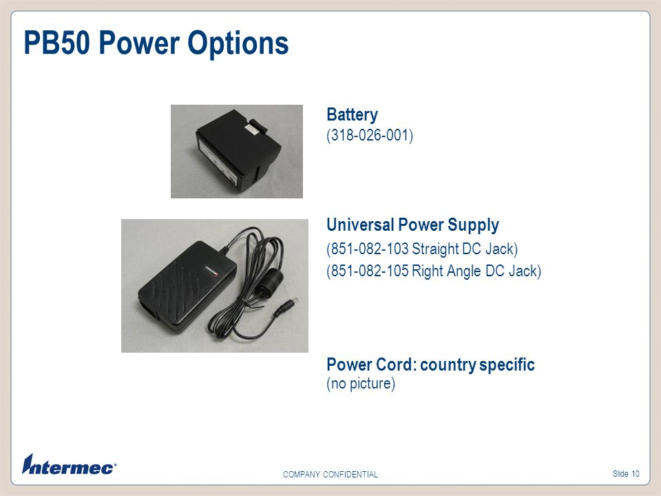 PB50 Power Options Battery (318-026-001) Universal Power Supply