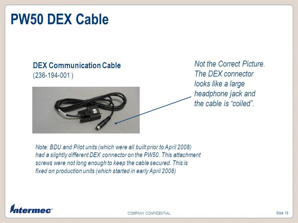 PW50 DEX Cable DEX Communication Cable