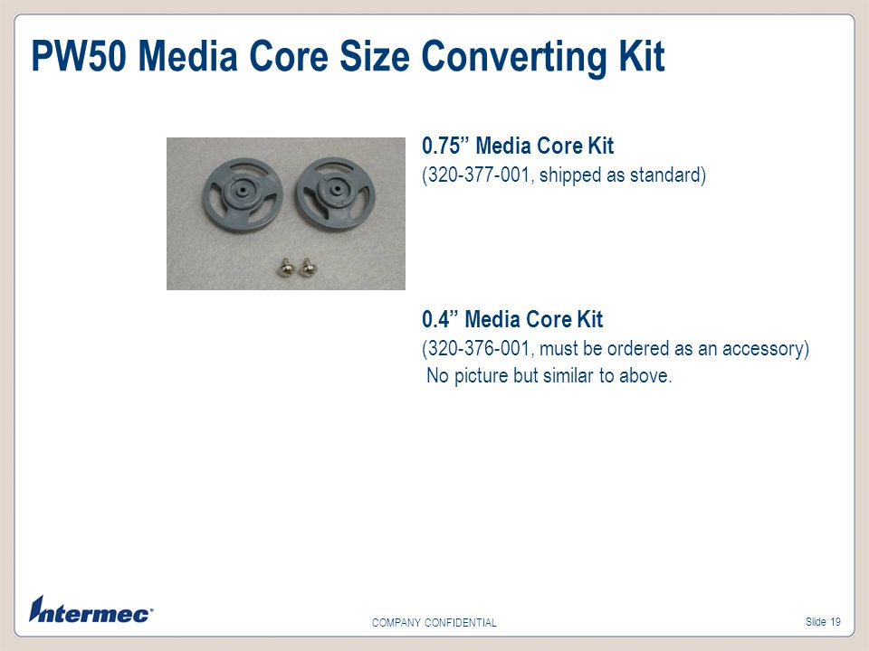 PW50 Media Core Size Converting Kit