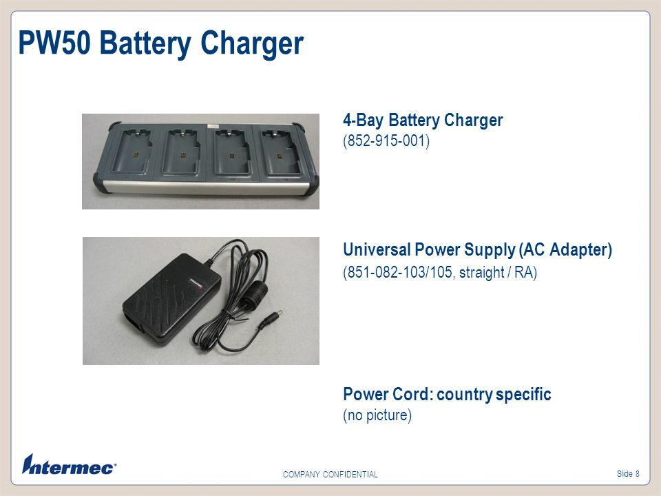 PW50 Battery Charger 4-Bay Battery Charger ( )