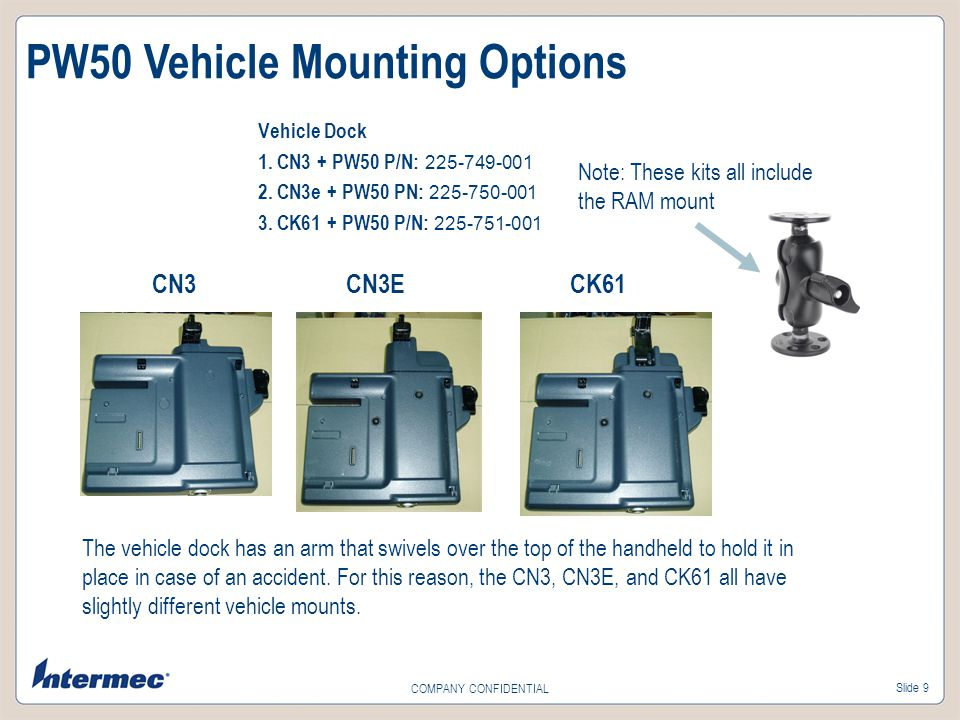 PW50 Vehicle Mounting Options