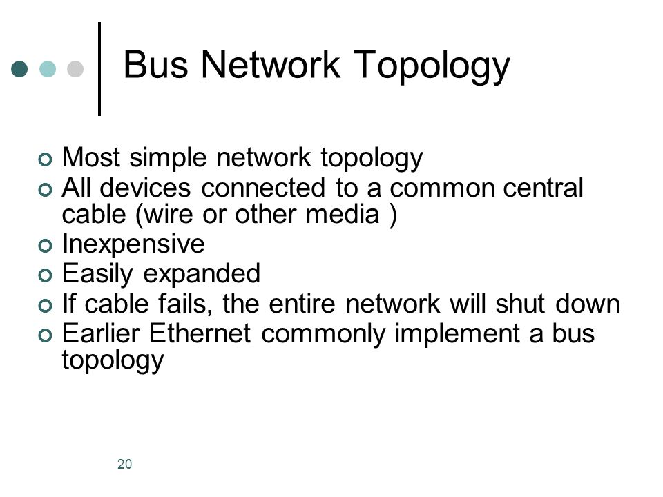 Bus Network Topology Most simple network topology