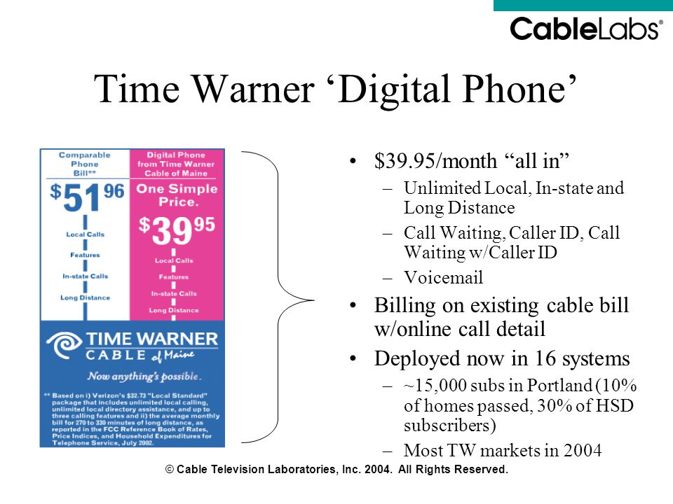Time Warner 'Digital Phone'
