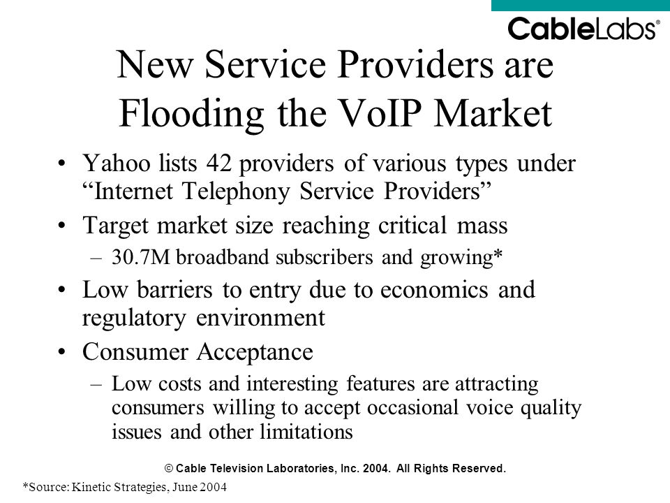 New Service Providers are Flooding the VoIP Market